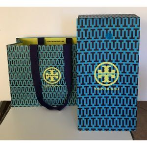 💯Authentic 2 Tory Burch Gift Shopping Bag Set